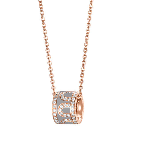 L'Arc de DAVIDOR Bead, 18k Rose Gold with Lacquered Ceramic and Palais Diamonds