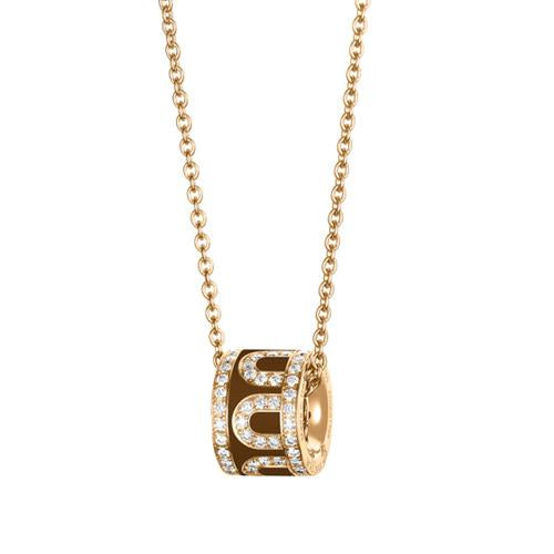L'Arc de DAVIDOR Bead, 18k Yellow Gold with lacquer and Palais Diamonds