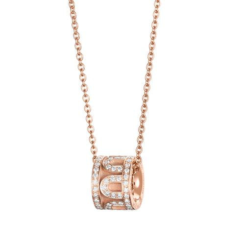 L'Arc de DAVIDOR Bead, 18k Rose Gold with Satin Finish and Palais Diamonds