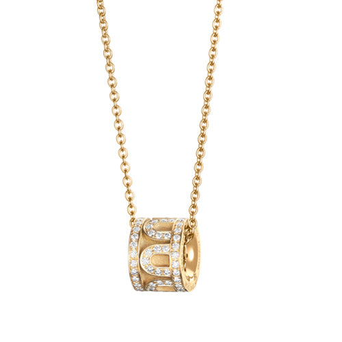 L'Arc de DAVIDOR Bead, 18k Yellow Gold with Satin Finish and Palais Diamonds