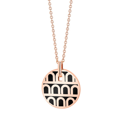 L'Arc de DAVIDOR Pendant PM, 18k Rose Gold with Lacquered Ceramic