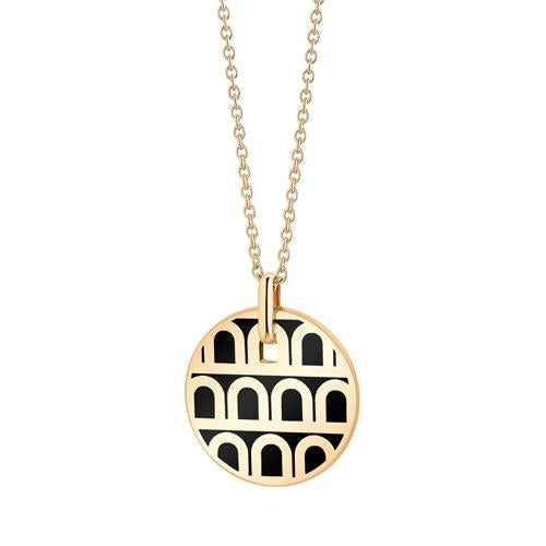 L'Arc de DAVIDOR Pendant PM, 18k Yellow Gold with Lacquered Ceramic