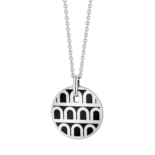 L'Arc de DAVIDOR Pendant PM, 18k White Gold with Lacquered Ceramic