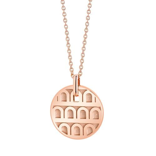 L'Arc de DAVIDOR Pendant PM, 18k Rose Gold with Satin Finish