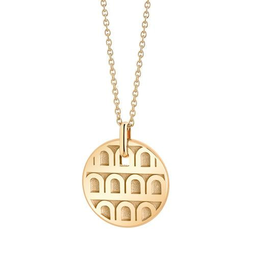 L'Arc de DAVIDOR Pendant PM, 18k Yellow Gold with Satin Finish