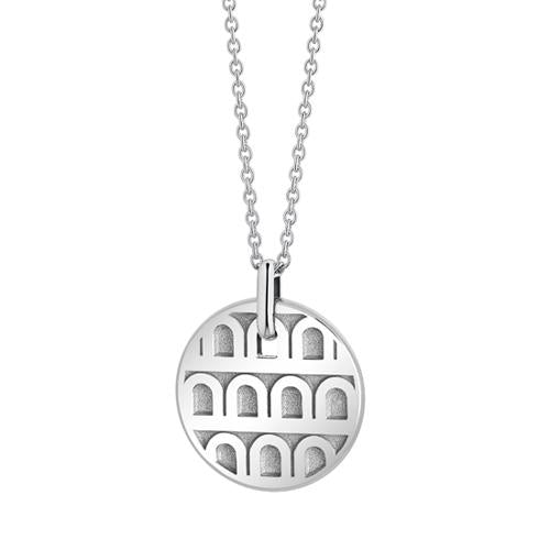 L'Arc de DAVIDOR Pendant PM, 18k White Gold with Satin Finish