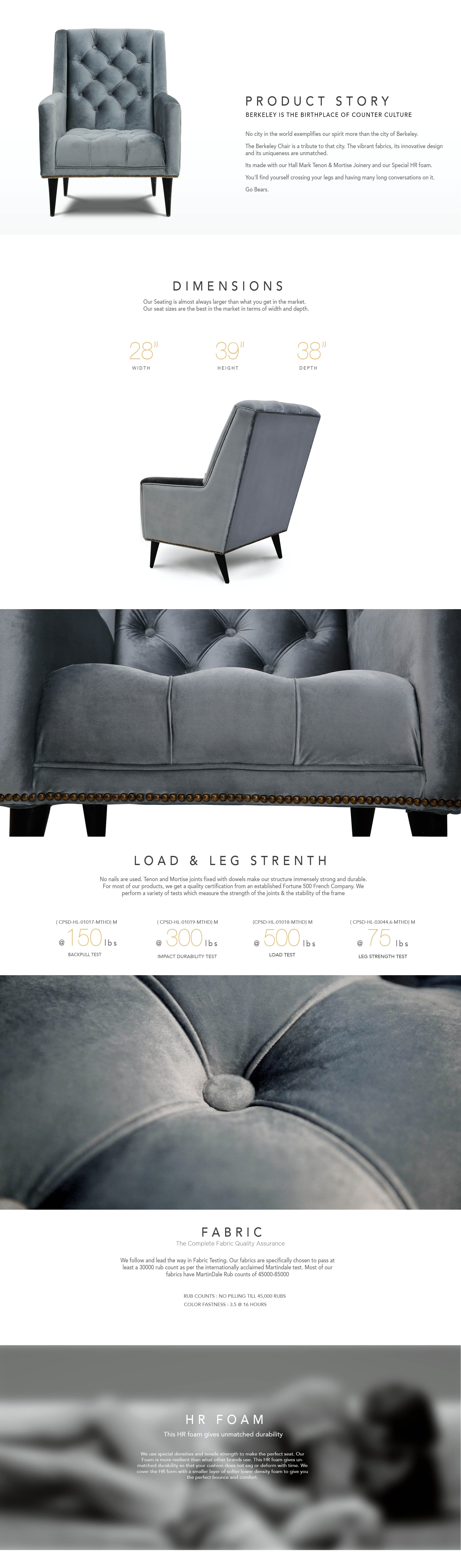 Counter Culture Retro Chair Berkeley Soft Silver Grey Catalogue Page