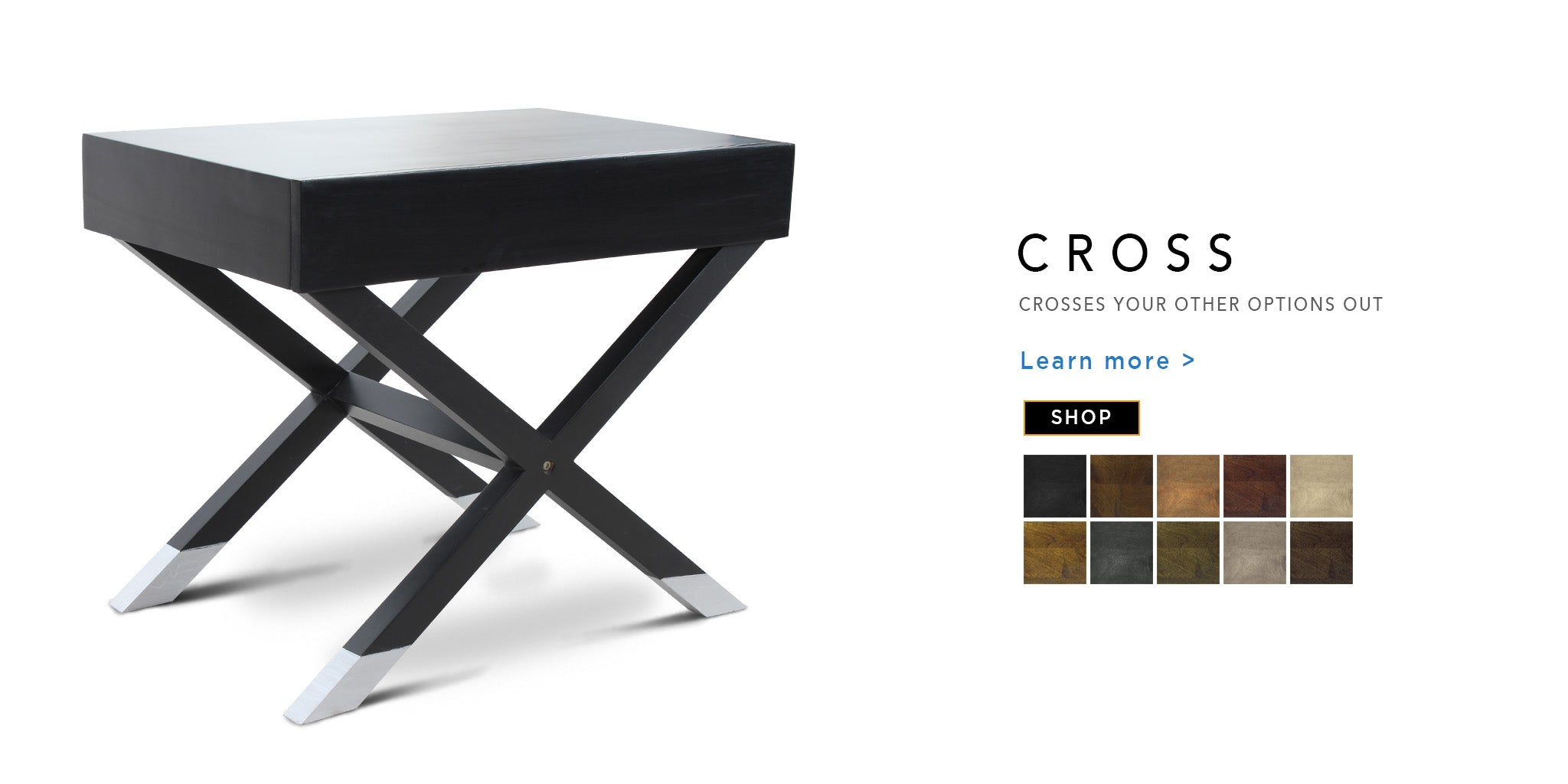 Counter Culture Cross End Table Catalogue