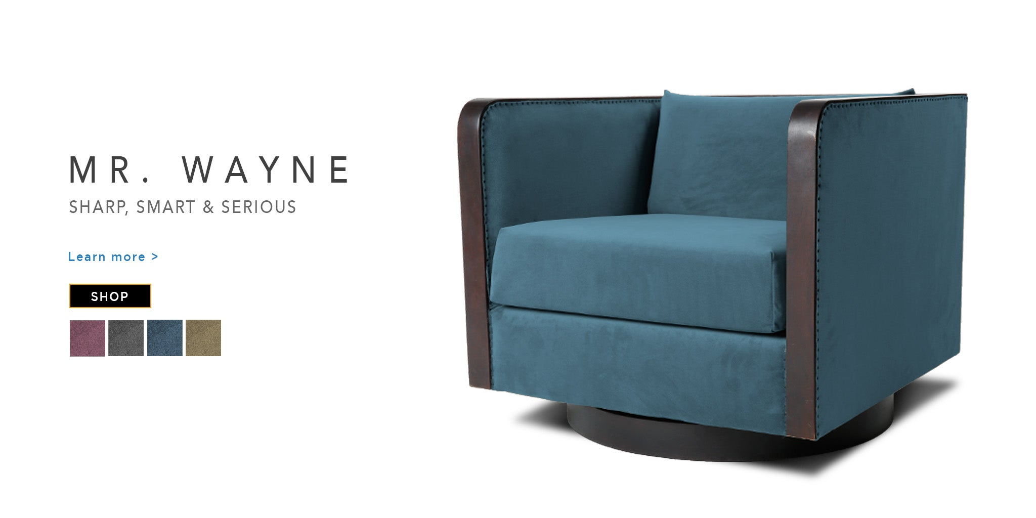 Counter CUlture best swivel chair Mr Wayne catalogue page