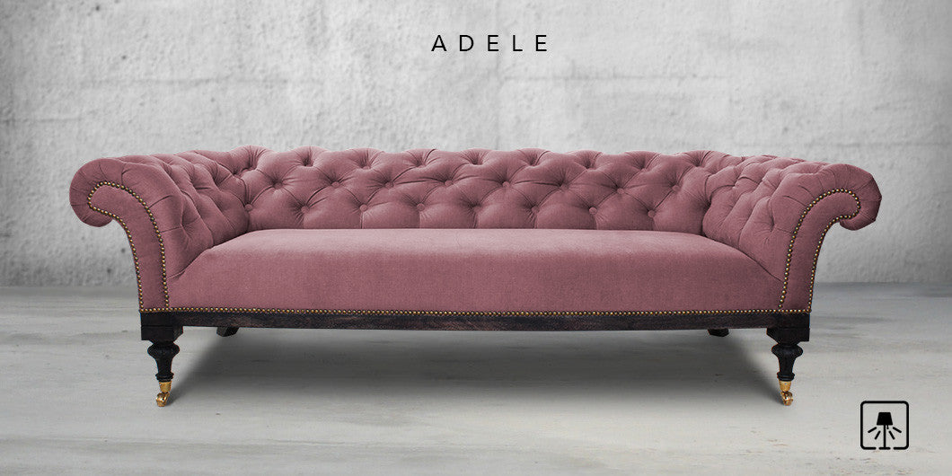 Counter Culture Adele Fabric Sofa Rich Pink1 ...