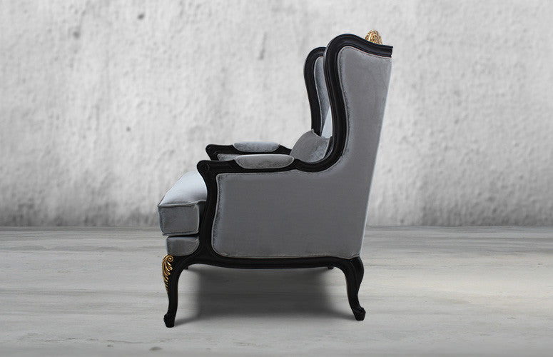 Beau ... Counter Culture 7 Race Course Classic Luxurious Chair Silver Grey3 ...
