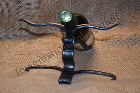 Long Horn Wine Holder