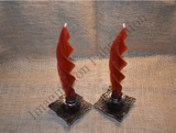Eternal Flame Candle Holder with Flame Bee's Wax Candle (Pair)