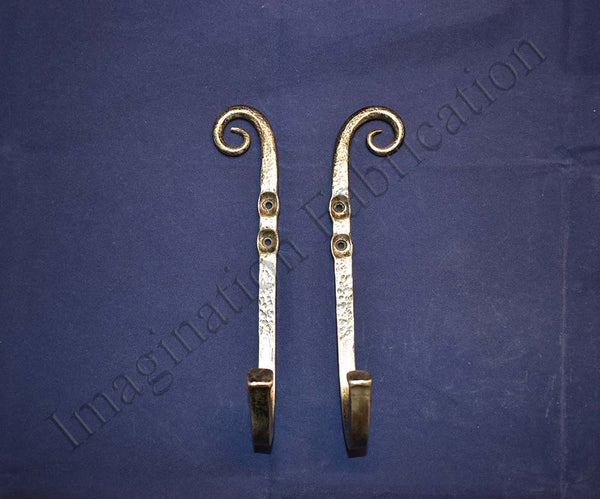 Extra Large Vintage Scroll Wall Hooks (Pair)
