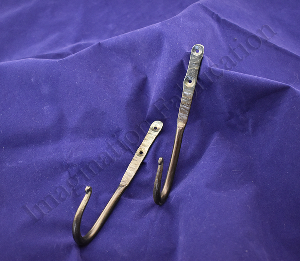 Large Hooks with Curled Ends (Pair)