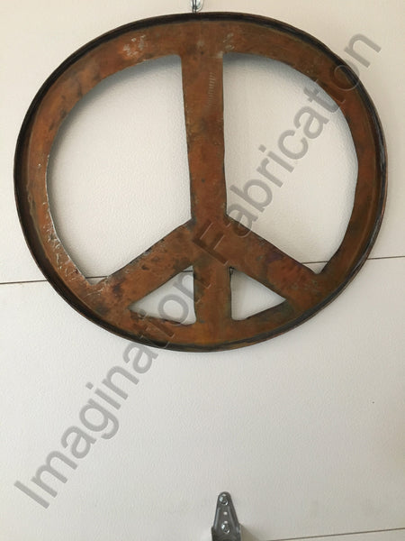 Peace Symbol Wall Sculpture