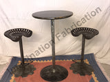 Eclectic Pub Table with Stools