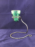 Vintage Hand-Forged Telephone Insulator Candle Holder