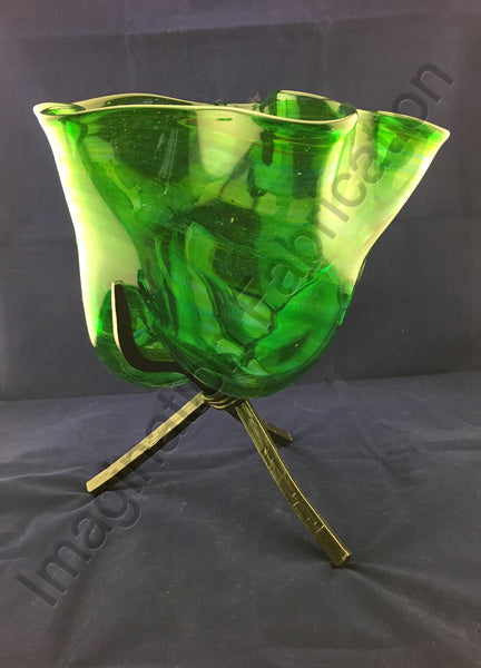 Bountiful Glass Bowl with Elegant Tripod Stand