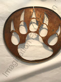 Native Bear Symbol Wall Sculpture