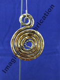 Infinity Medallion Ornament - Copper Patina
