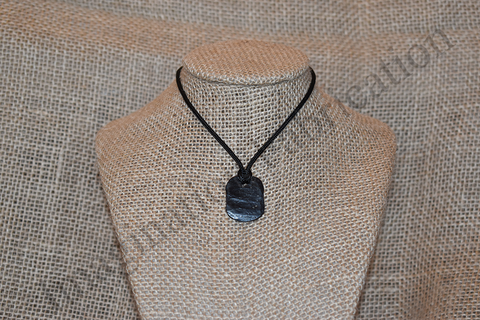 Peen Slate Medallion Necklace