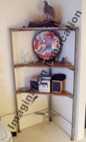 Custom Rustic New Mexican Corner Shelf