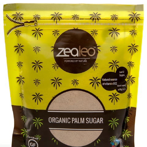 Zealeo Organic Palm Sugar Natural Low Sugar Alternative