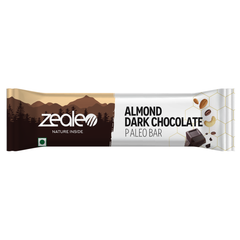 Zealeo Almonds Dark Choco Bar Box (Pack of 10 Pcs)