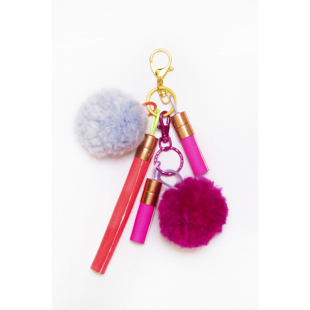 Pink, Coral & Lilac Bag Charm