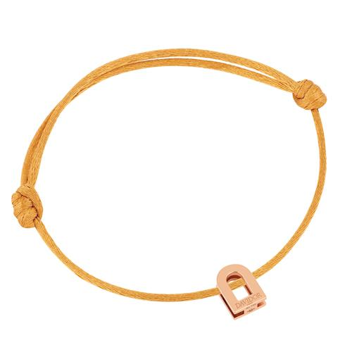 Men's L'Arc Voyage bracelet, 18k Rose Gold on silk cord