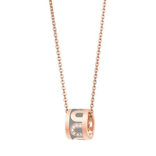 L'Arc de DAVIDOR Bead, 18k Rose Gold with Lacquered Ceramic and Colonnato Diamonds
