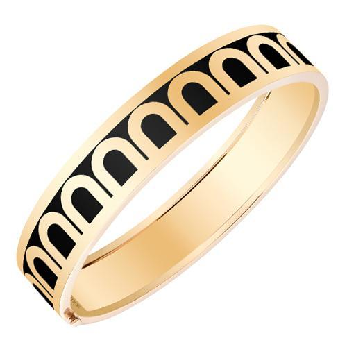 L'Arc de DAVIDOR Bangle GM, 18k Yellow Gold with Lacquered Ceramic