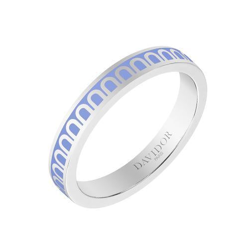 L'Arc de DAVIDOR Ring PM, 18k White Gold with Lacquered Ceramic