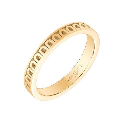 Men's L'Arc de DAVIDOR Ring PM, 18k Yellow Gold with Satin Finish