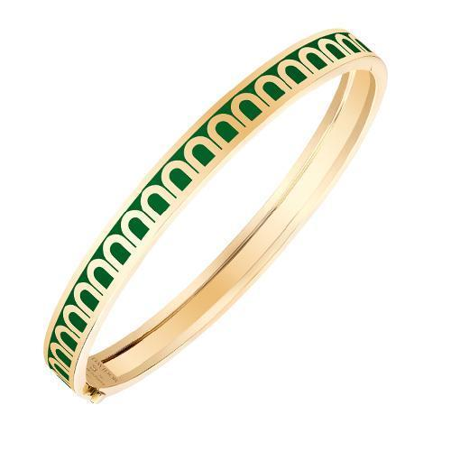 L'Arc de DAVIDOR Bangle PM, 18k Yellow Gold with Lacquered Ceramic