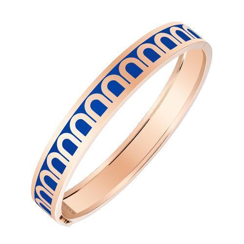 L'Arc de DAVIDOR Bangle MM, 18k Rose Gold with Lacquered Ceramic