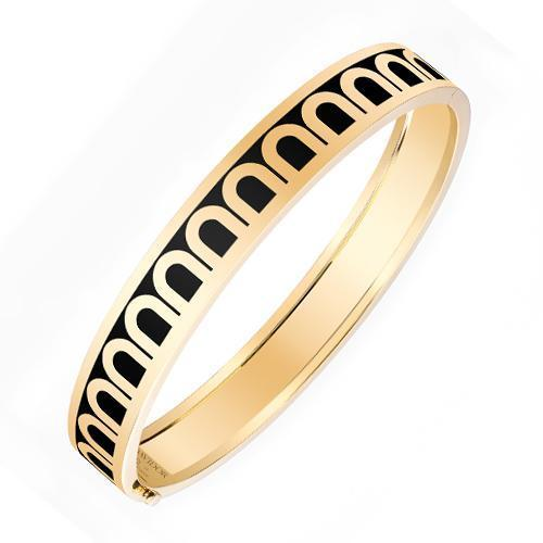 Men's L'Arc de DAVIDOR Bangle MM, 18k Yellow Gold with Lacquered Ceramic