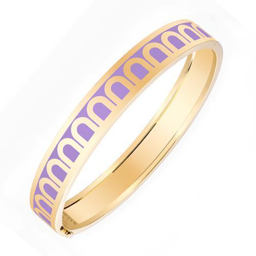 L'Arc de DAVIDOR Bangle MM, 18k Yellow Gold with Lacquered Ceramic