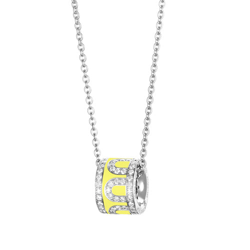 L'Arc de DAVIDOR Bead, 18k White Gold with Lacquered Ceramic and Palais Diamonds