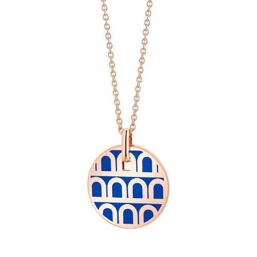 L'Arc de DAVIDOR Pendant PM, 18k Rose Gold with lacquer