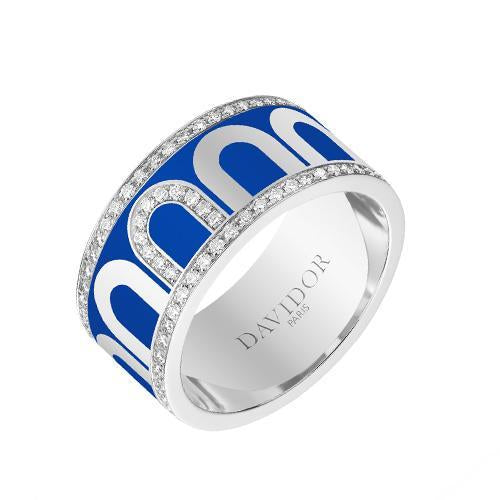 L'Arc de DAVIDOR Ring GM, 18k White Gold with lacquer and Porta Diamonds