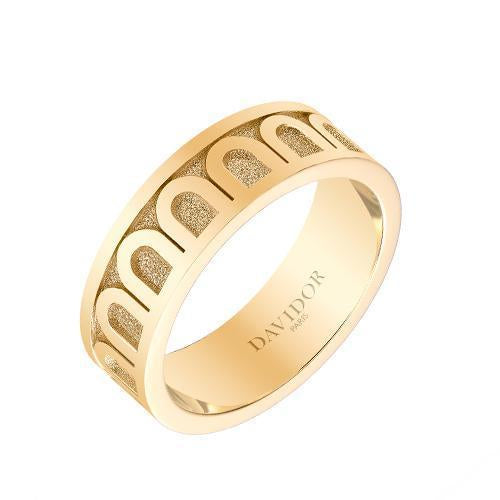 Men's L'Arc de DAVIDOR Ring MM, 18k Yellow Gold with Satin Finish
