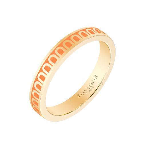 L'Arc de DAVIDOR Ring PM, 18k Yellow Gold with Lacquered Ceramic
