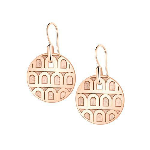 L'ARC DE DAVIDOR Pendant Earring PM, 18k Rose Gold with Satin Finish