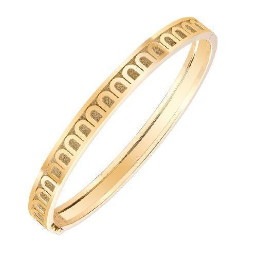 L'Arc de DAVIDOR Bangle PM, 18k Yellow Gold with Satin Finish