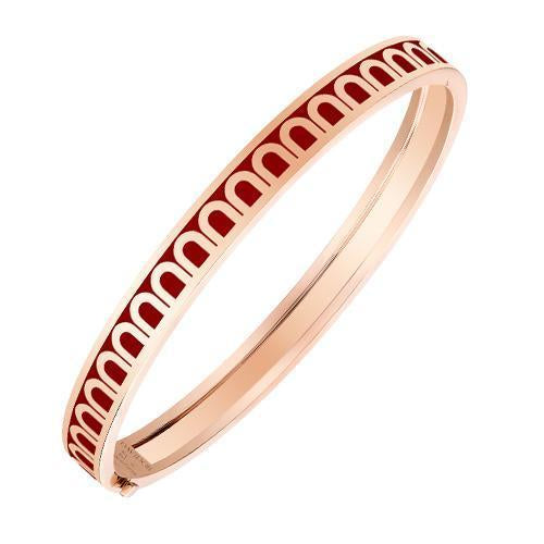 L'Arc de DAVIDOR Bangle PM, 18k Rose Gold with Lacquered Ceramic