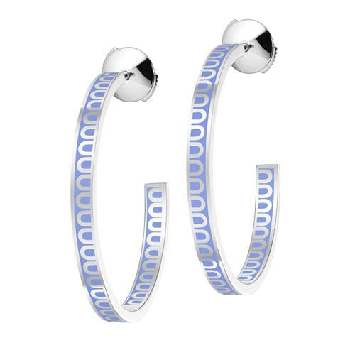 L'Arc de DAVIDOR Creole Earring MM, 18k White Gold with lacquer