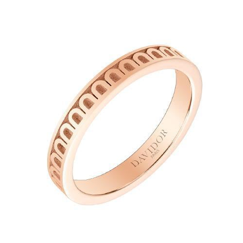 Men's L'Arc de DAVIDOR Ring PM, 18k Rose Gold with Satin Finish