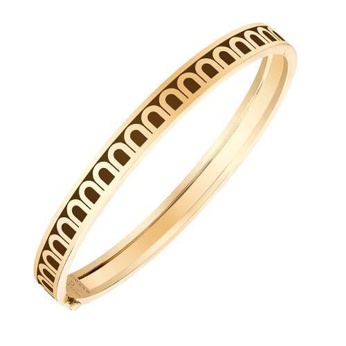 Men's L'Arc de DAVIDOR Bangle PM, 18k Yellow Gold with Lacquered Ceramic